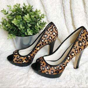 VIA SPIGA Cheetah Print Heels